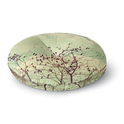 Sylvia Coomes Birds of a Feather Round Floor Pillow Size: 26 x 26