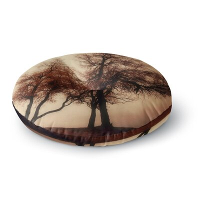 Sylvia Coomes Rust Trees Photography Nature Round Floor Pillow Size: 26 x 26