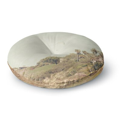 Sylvia Coomes 'West Coast 1' Coastal Photography Round Floor Pillow Size: 23