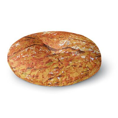 Sylvia Coomes Fall Folioge Round Floor Pillow Size: 26 x 26