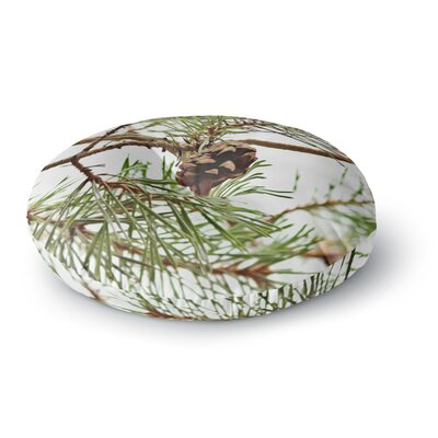 Sylvia Coomes Pinecone Round Floor Pillow Size: 23 x 23
