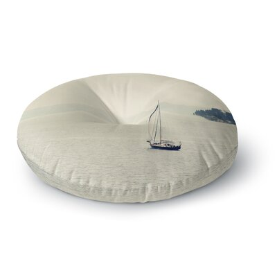 Sylvia Coomes Hazy Sea Travel Round Floor Pillow Size: 26 x 26