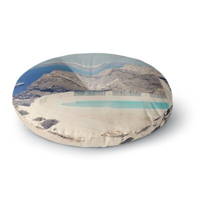 Sylvia Coomes Greek Paradise Round Floor Pillow Size: 26 x 26