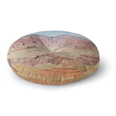 Sylvia Coomes Grand Canyon Panoramic Nature Travel Round Floor Pillow Size: 23 x 23