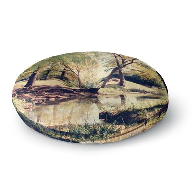 Sylvia Coomes Walk in the Park Photography Round Floor Pillow Size: 26 x 26