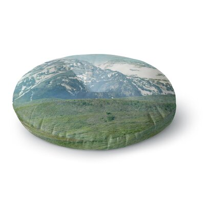 Sylvia Coomes Pastel Mountains Nature Round Floor Pillow Size: 26 x 26