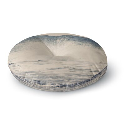 Sylvia Coomes Crashing Waves 2 Costal Round Floor Pillow Size: 23 x 23
