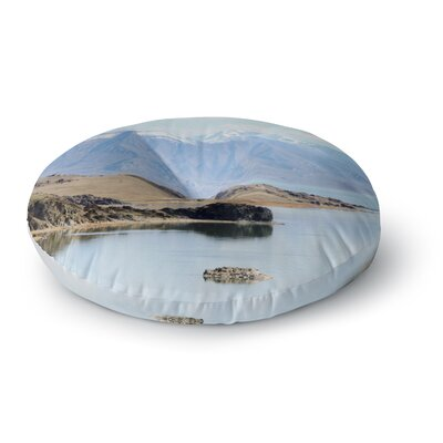 Sylvia Coomes Mountain Reflection Nature Round Floor Pillow Size: 26 x 26