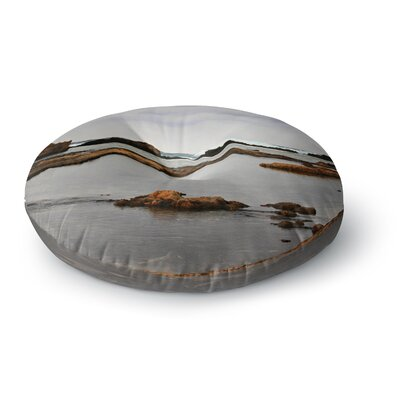Sylvia Coomes Dark Sea Coastal Round Floor Pillow Size: 23 x 23