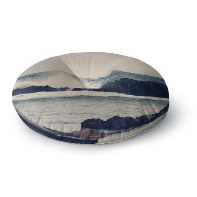 Sylvia Coomes Ocean Blue 2 Coastal Round Floor Pillow Size: 26 x 26