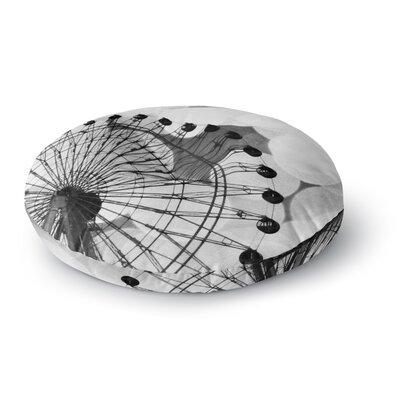 Sylvia Coomes Black and White Ferris Wheel Round Floor Pillow Size: 26 x 26