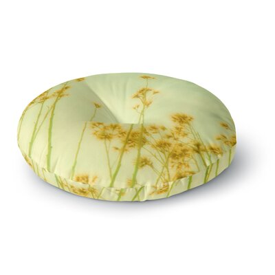 Sylvia Coomes Abstract Yellow Wild Flowers Round Floor Pillow Size: 23 x 23