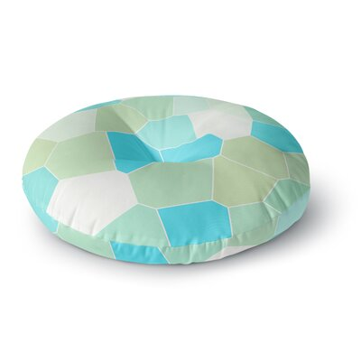 Sylvia Coomes Aqua and Sage Round Floor Pillow Size: 23 x 23