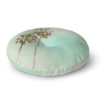 Sylvia Coomes Pastel Palm Trees Photography Round Floor Pillow Size: 23 x 23