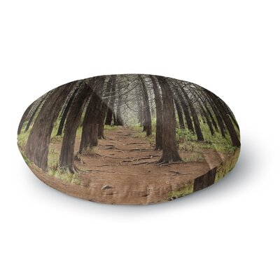 Sylvia Coomes Parallel Forest Photography Round Floor Pillow Size: 26 x 26