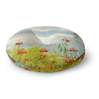 Sylvia Coomes Red Bird of Paradise Photography Round Floor Pillow Size: 26 x 26