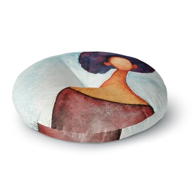 Stacey-Ann Cole A Sense of Self Round Floor Pillow Size: 26 x 26