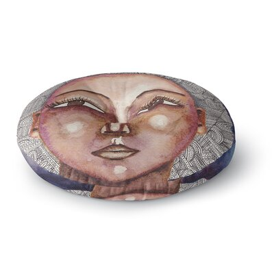 Stacey-Ann Cole Wise Words People Ethnic Round Floor Pillow Size: 26 x 26