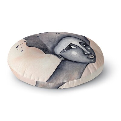 Stacey-Ann Cole 'Yearning African American Art' Round Floor Pillow Size: 23