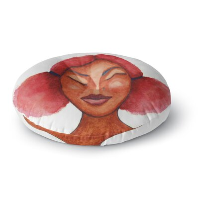 Stacey-Ann Cole 'Five Minutes of Peace' Painting Round Floor Pillow Size: 26