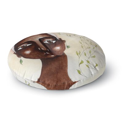 Stacey-Ann Cole 'Nature's Beauty' Painting Round Floor Pillow Size: 23