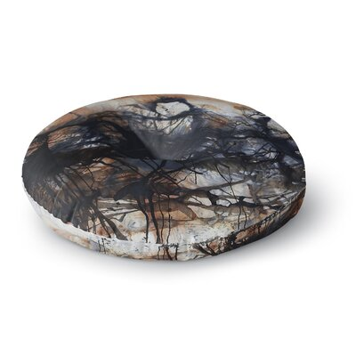 Steven Dix Looking for Water Round Floor Pillow Size: 26 x 26