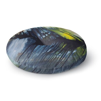 Steven Dix Gravity Falling Paint Round Floor Pillow Size: 23 x 23
