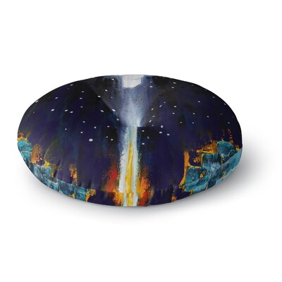 Steven Dix Retro Painting Round Floor Pillow Size: 26 x 26