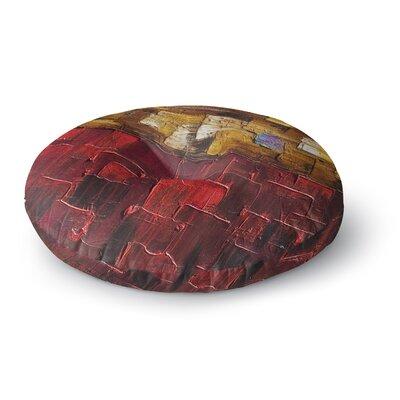 Steven Dix Movement Beneath Round Floor Pillow Size: 23 x 23