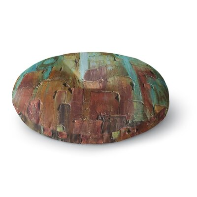 Steven Dix Copper Shale Awash Painting Round Floor Pillow Size: 23 x 23