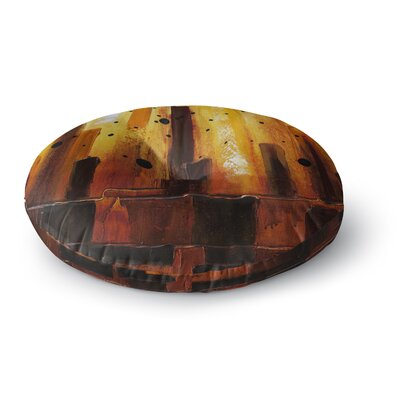 Steven Dix Falling Embers Painting Round Floor Pillow Size: 26 x 26
