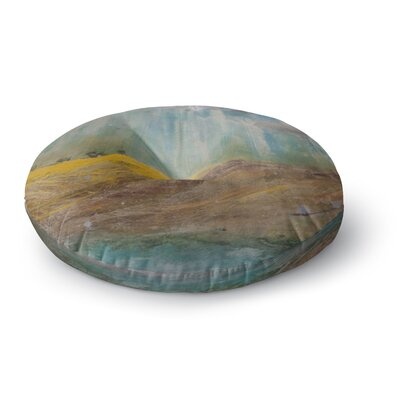 Steven Dix Silent Meadow Painting Round Floor Pillow Size: 23 x 23