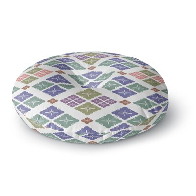 Setsu Egawa Happy Lozenge Round Floor Pillow Size: 26 x 26