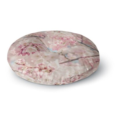 Suzanne Harford Cherry Blossoms Photography Round Floor Pillow Size: 23 x 23