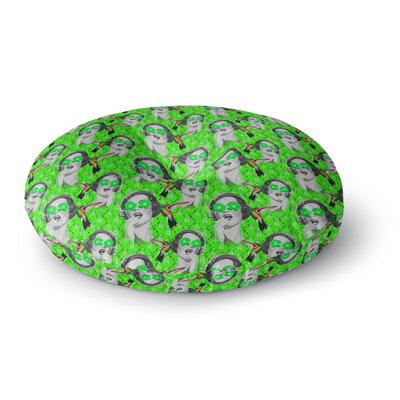Shirlei Patricia Muniz Good Vibes Vintage Round Floor Pillow Size: 23 x 23