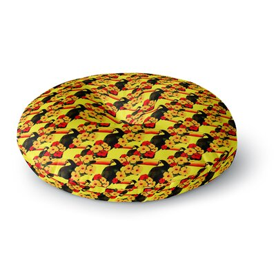 Shirlei Patricia Muniz Love Toucans Floral Round Floor Pillow Size: 26 x 26