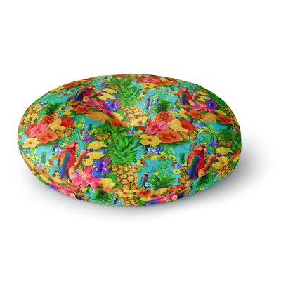 Shirlei Patricia Muniz Tropical Style Nature Round Floor Pillow Size: 26 x 26