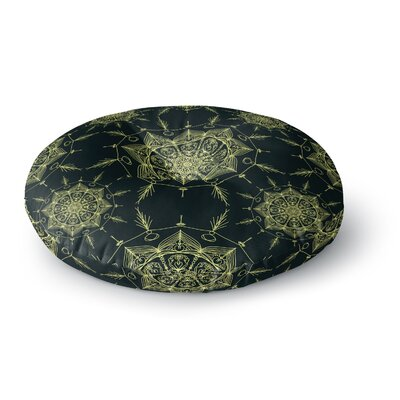 Shirlei Patricia Muniz Mystic ll Abstract Round Floor Pillow Size: 26 x 26