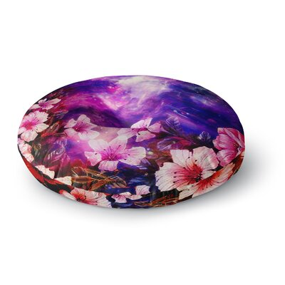 Shirlei Patricia Muniz Space Flowers Round Floor Pillow Size: 26 x 26