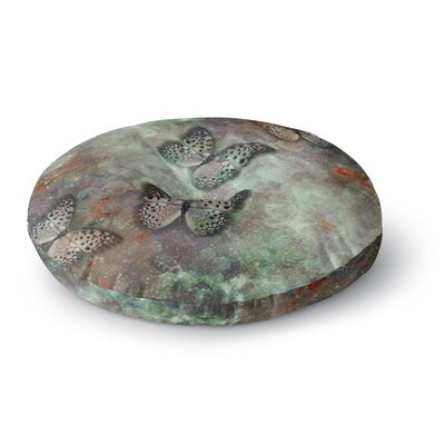 Shirlei Patricia Muniz World of Butterflies Digital Round Floor Pillow Size: 26 x 26