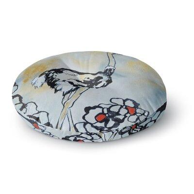 Sonal Nathwani Ostrich Round Floor Pillow Size: 23 x 23