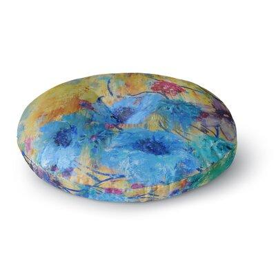 Sonal Nathwani 'Cosmic Love Garden' Round Floor Pillow Size: 26