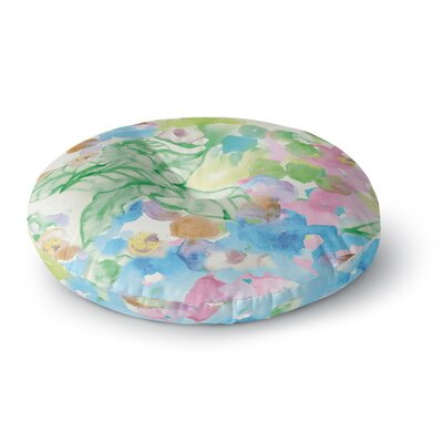 Sonal Nathwani 'Leaf Bouquet' Round Floor Pillow Size: 26