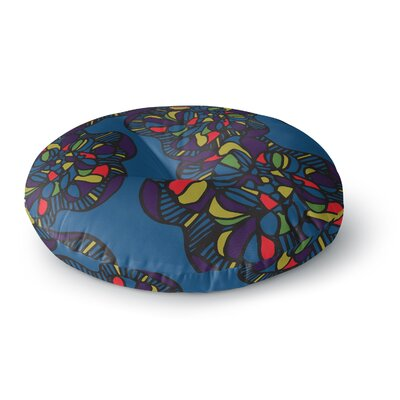 Sonal Nathwani 'Mushroom Flower' Round Floor Pillow Size: 26