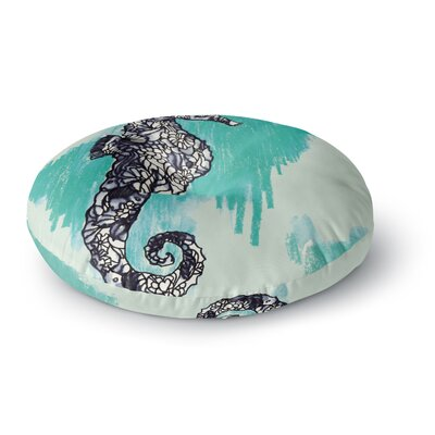 Sonal Nathwani Seahorse Round Floor Pillow Size: 26 x 26