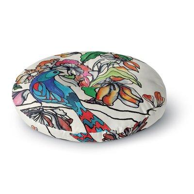 Sonal Nathwani Magic Garden Rainbow Bird Round Floor Pillow Size: 23 x 23