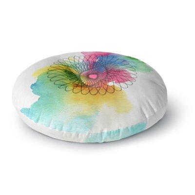 Sonal Nathwani Rainbow Spiro Round Floor Pillow Size: 26 x 26