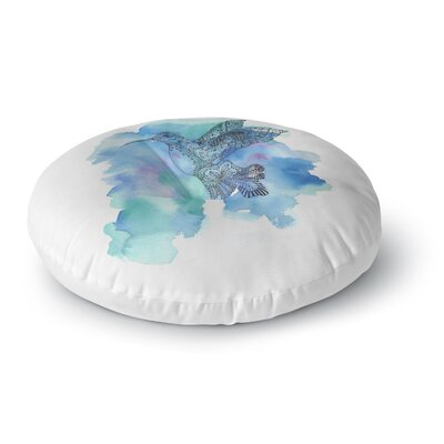 Sonal Nathwani Hummingbird Watercolor Round Floor Pillow Size: 26 x 26