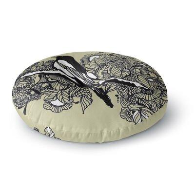 Sonal Nathwani Magpie Bird Round Floor Pillow Size: 23 x 23