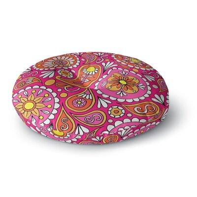 Sarah Oelerich Paisley Pop Round Floor Pillow Size: 26 x 26